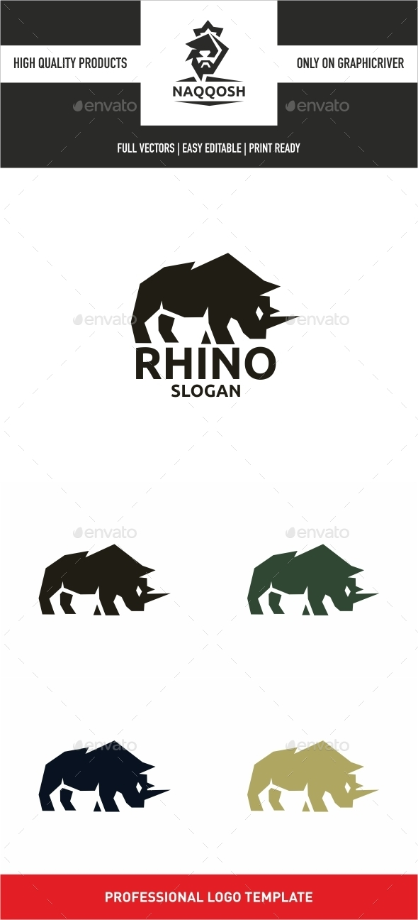 Rhino - Animals Logo Templates
