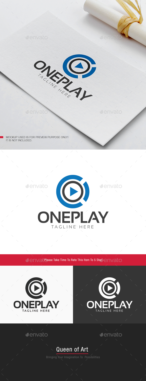 One Play Logo - Objects Logo Templates