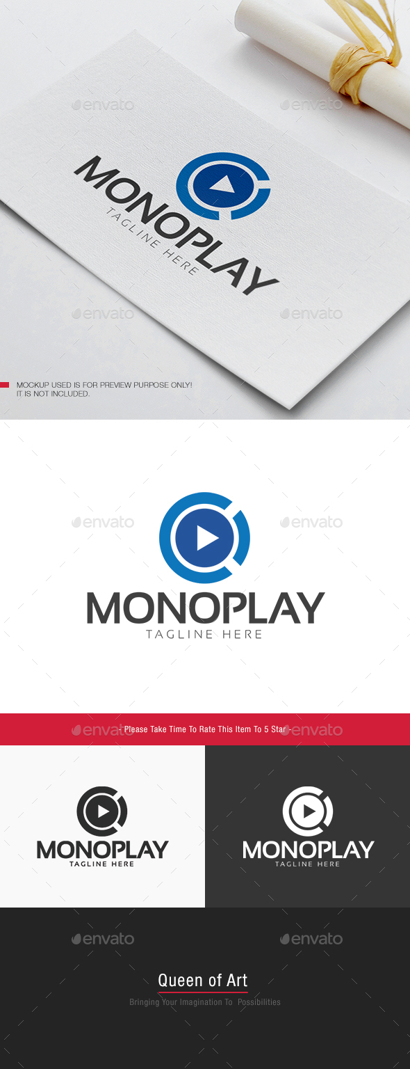 Mono Play Logo - Objects Logo Templates
