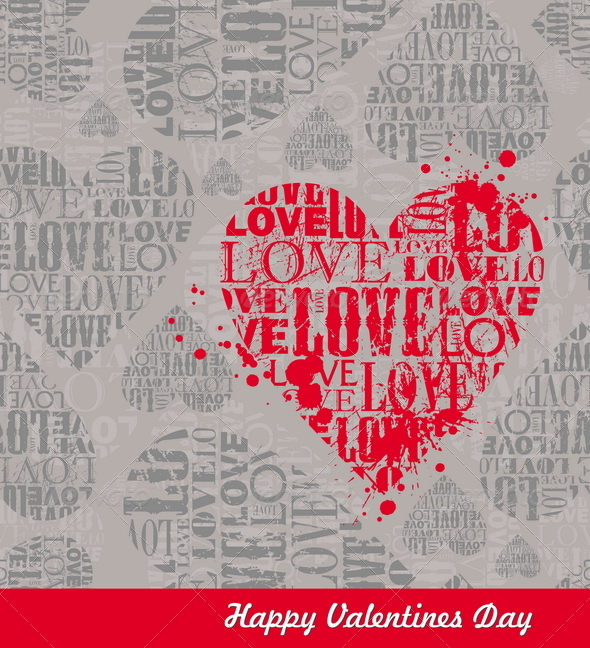 Vector Abstract Valentines Seamless Background - Valentines Seasons/Holidays