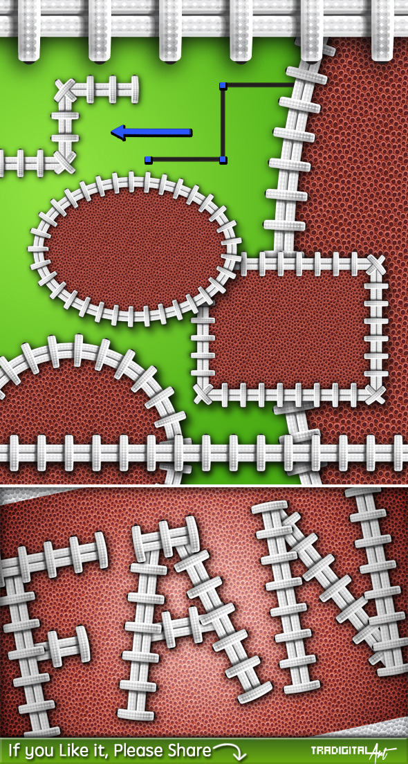 Football Laces Brush and Styles Pack+ - Texture Brushes
