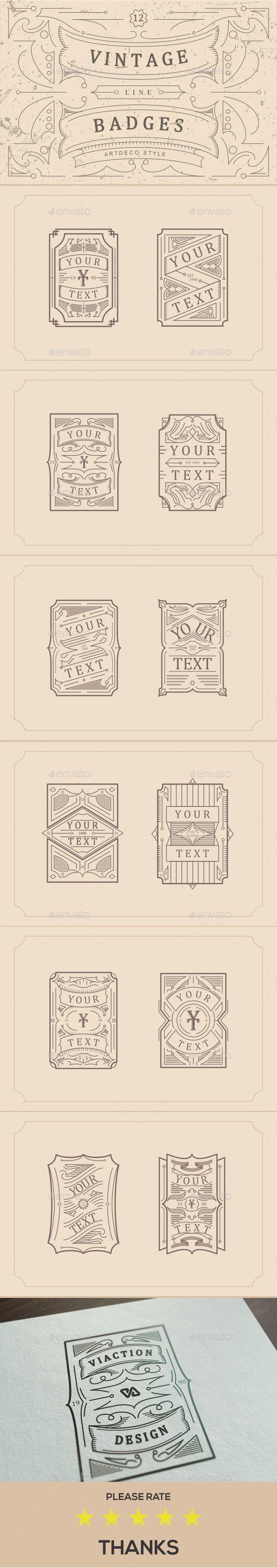 Vintage Line Badges - Conceptual Vectors