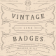 Vintage Line Badges - GraphicRiver Item for Sale