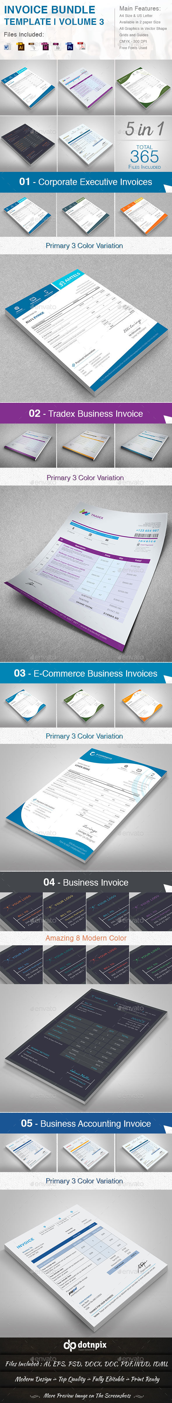 Invoice Bundle Template | Volume 3 - Proposals & Invoices Stationery