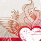 Vintage Hand Drawn Flaming Heart - GraphicRiver Item for Sale