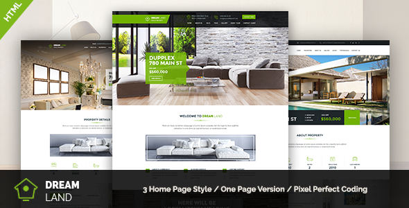 DREAM LAND - Single Property HTML Template - Business Corporate
