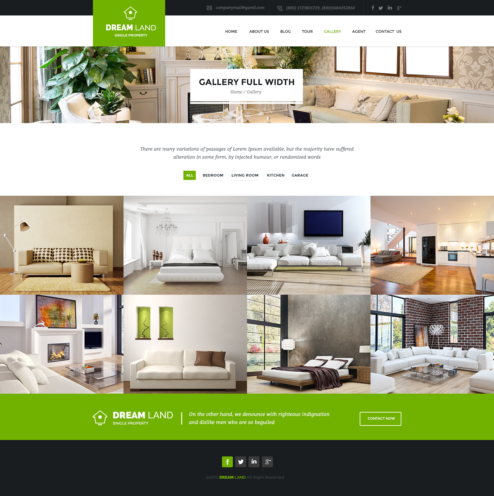 Genial DREAM LAND   Single Property HTML Template
