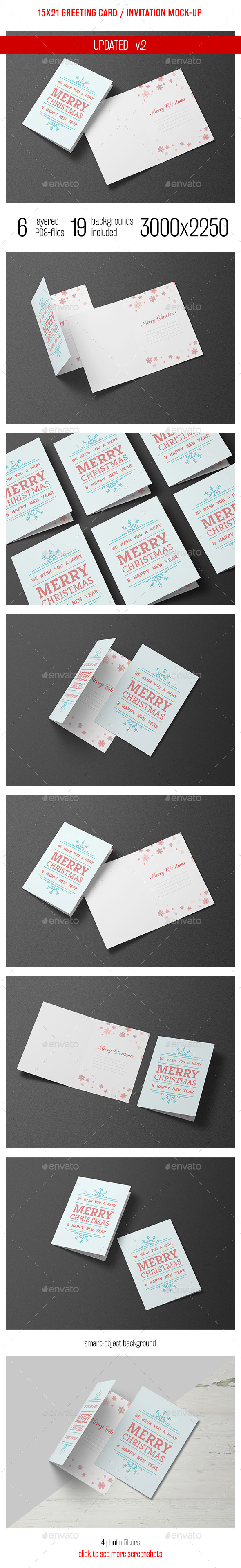Greeting Card and Invitation Mock-up - Miscellaneous Print