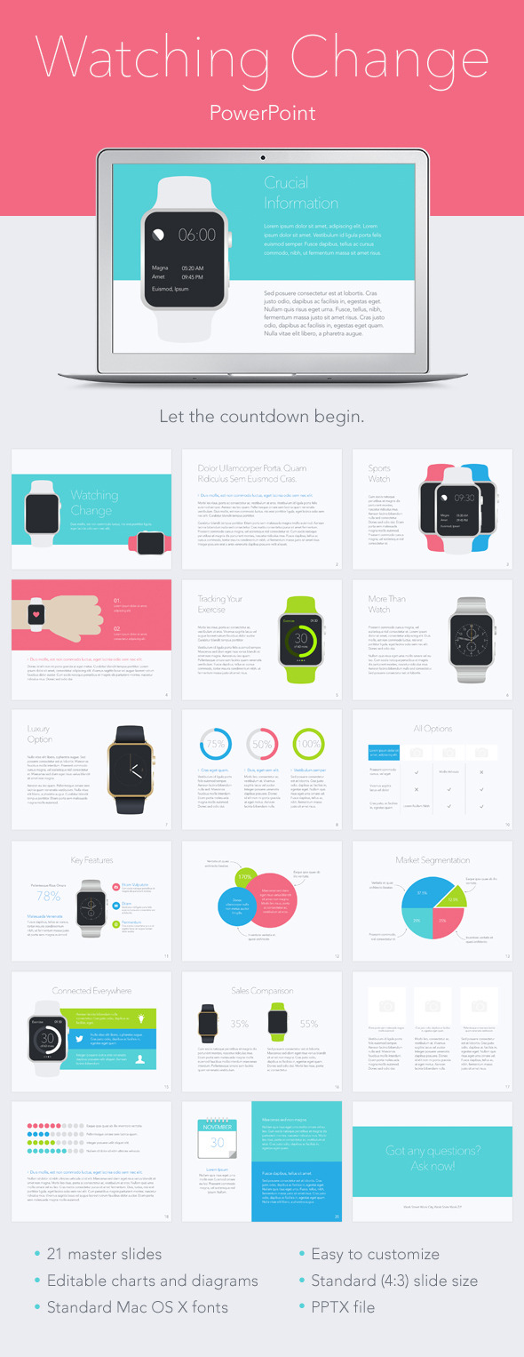 Watching Change PowerPoint Template - Abstract PowerPoint Templates