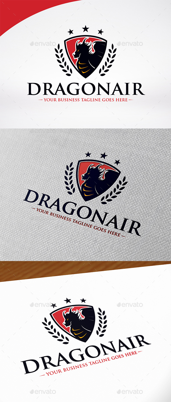 Dragon Shield Logo Template - Crests Logo Templates