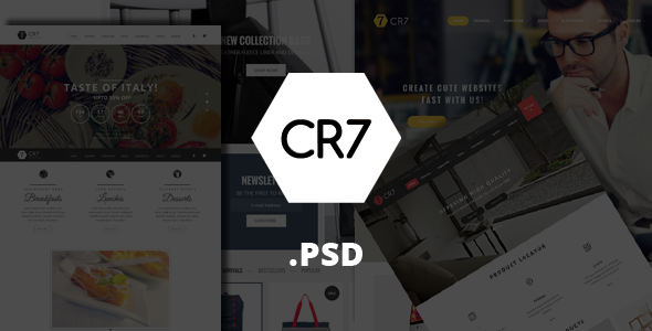 CR7 – eCommerce PSD Template