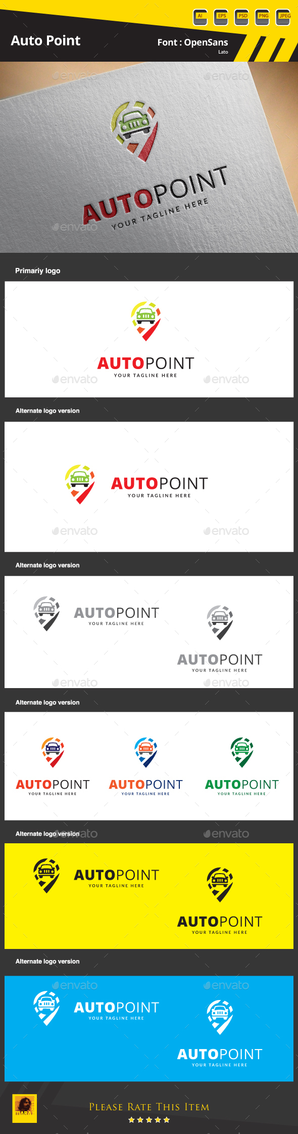 Auto Point Logo - Symbols Logo Templates