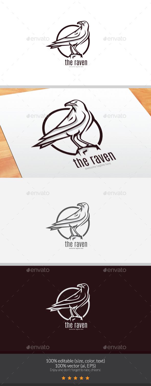 The Raven Logo - Animals Logo Templates