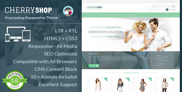 Cherry Shop - Responsive Prestashop Template