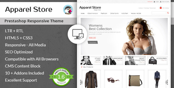 Apparel Store - Responsive Prestashop Theme - Fashion PrestaShop