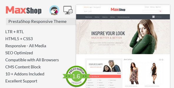 Maxshop - Prestashop Responsive Theme - Fashion PrestaShop