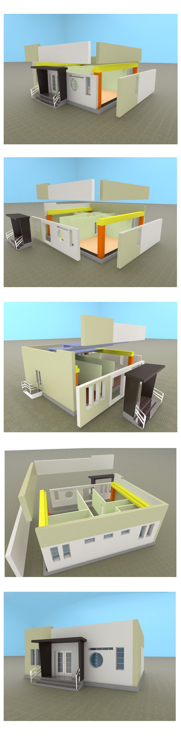 Modern precasted house - 3DOcean Item for Sale