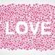 Many 3D purple pink Hearts Shapes LOVE form on a white background - PhotoDune Item for Sale