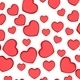 Many 3D red Hearts Shapes on a white background - PhotoDune Item for Sale