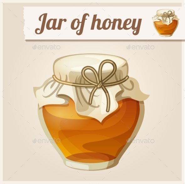 Detailed Icon. Jar Of Honey. - Food Objects