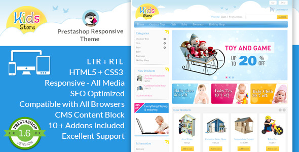 Kids Store - Prestashop Responsive Theme