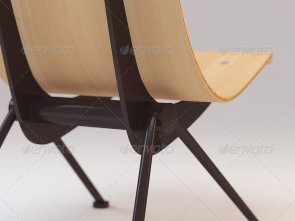 Jean Prouvé Antony Chair - 3DOcean Item for Sale
