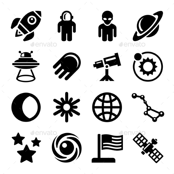 Space Icons Set - Technology Icons