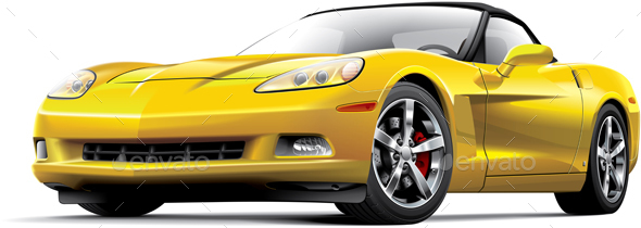 American Luxury Sports Car - Objects Vectors