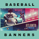 5 Facebook Banners Posts | Baseball Vol I - GraphicRiver Item for Sale