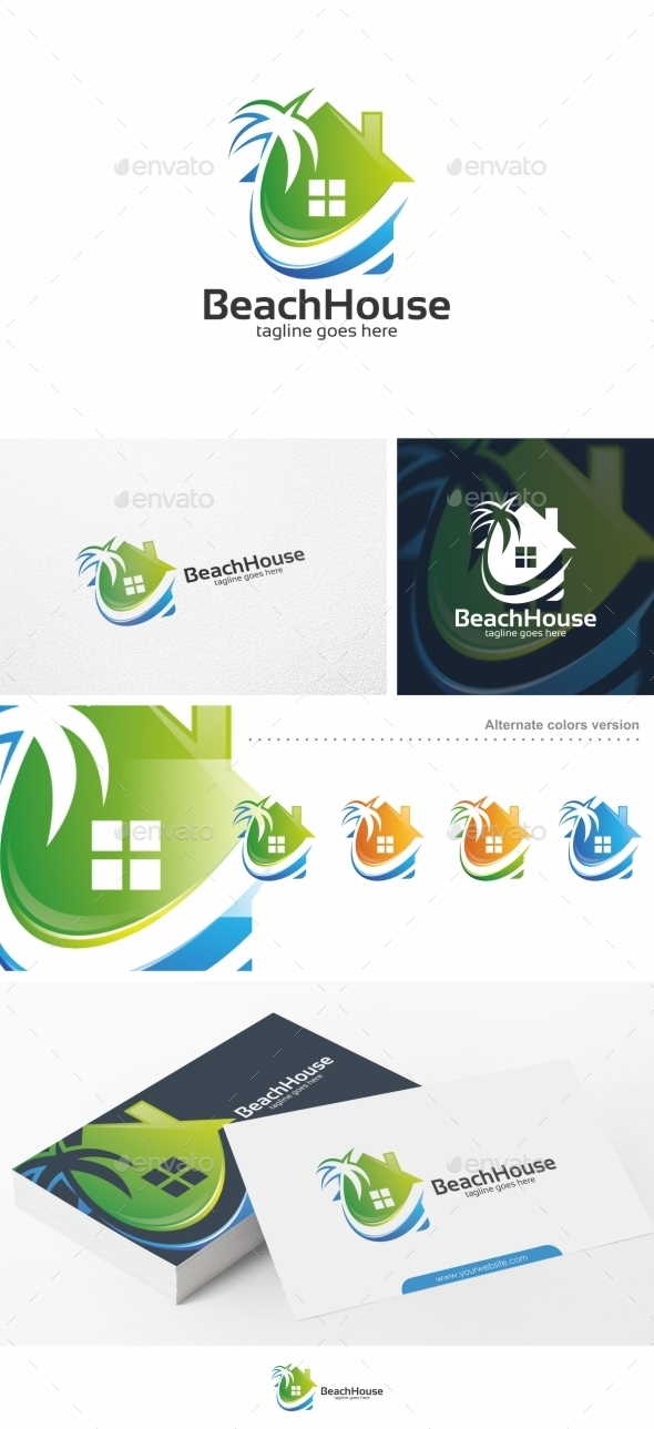 Beach House - Logo Template - Buildings Logo Templates