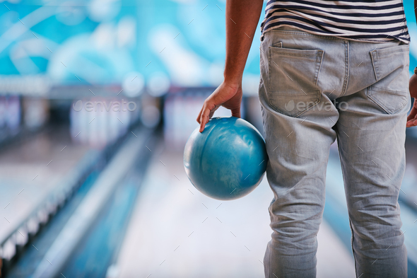 Playing bowling - Stock Photo - Images