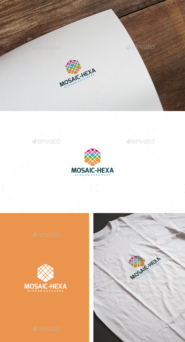 Mosaic Hexa Logo - Abstract Logo Templates