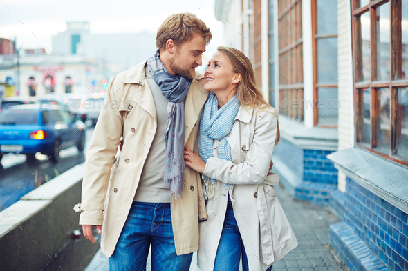 Couple in the city - Stock Photo - Images