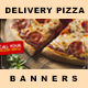 5 Facebook Banners Posts | Pizza Delivery vol I - GraphicRiver Item for Sale