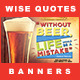 5 Facebook Banners Posts | Wise Quotes vol I - GraphicRiver Item for Sale