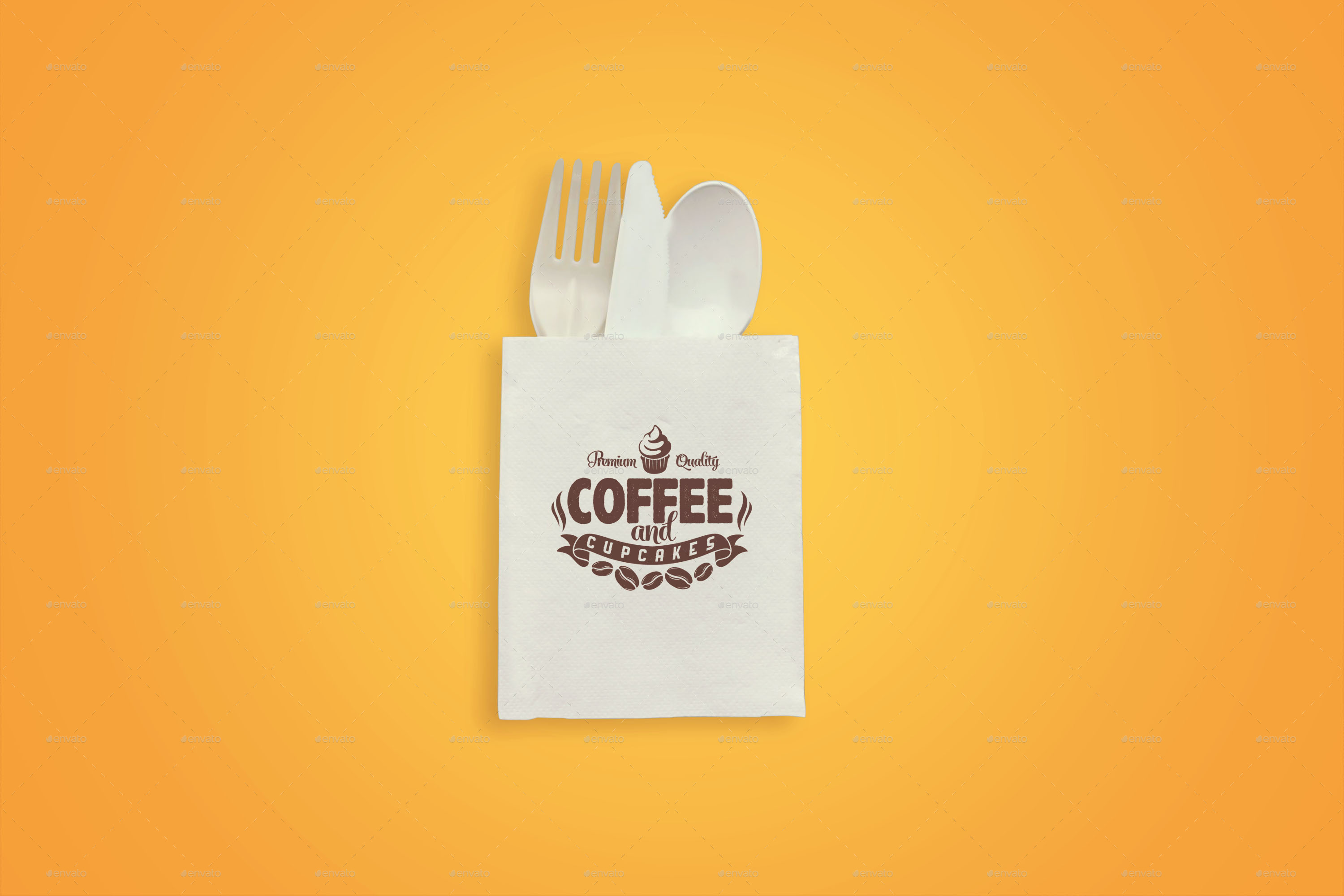 restaurant logo mockup bundle by shrdesign