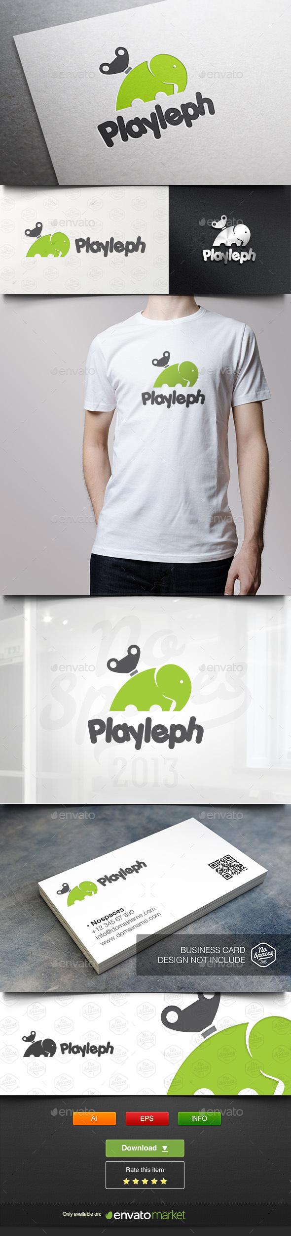 Elephant Play - Animals Logo Templates