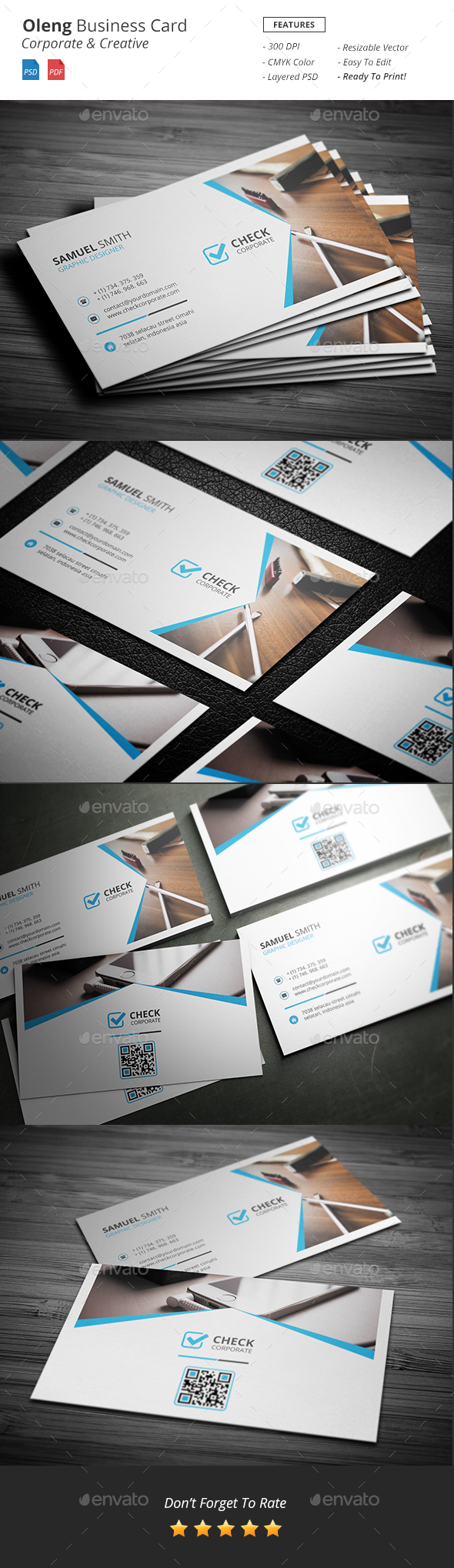 Oleng - Business Card - Corporate Business Cards