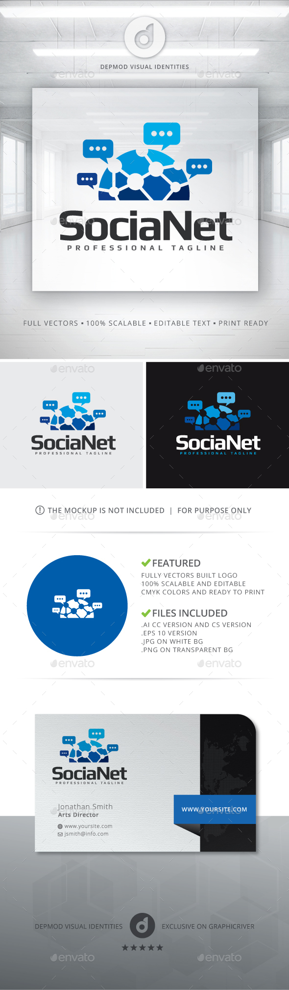 SociaNet Logo - Objects Logo Templates