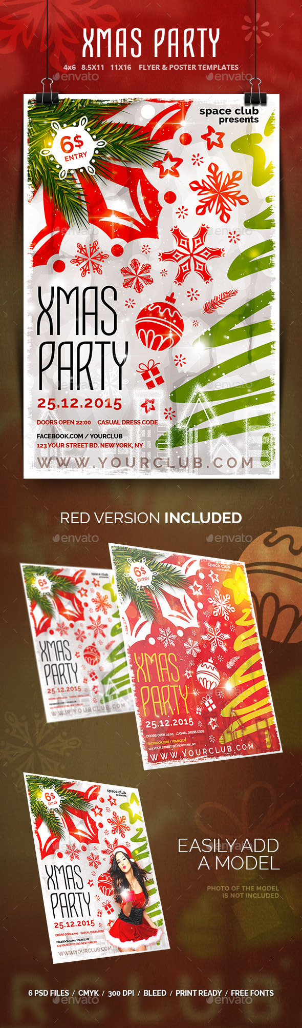 Xmas Party Templates - Clubs & Parties Events