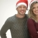 Cheerful Couple In Santa Hat Laughs - VideoHive Item for Sale