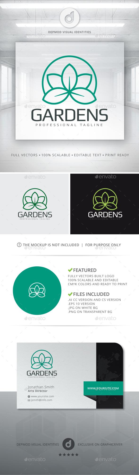 Gardens Logo - Nature Logo Templates