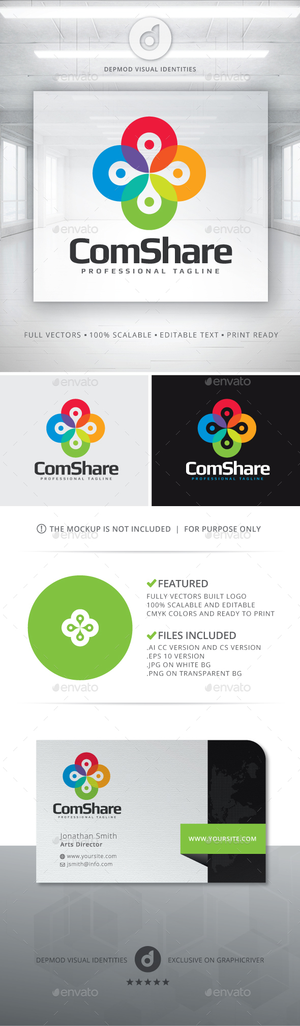 ComShare Logo - Abstract Logo Templates