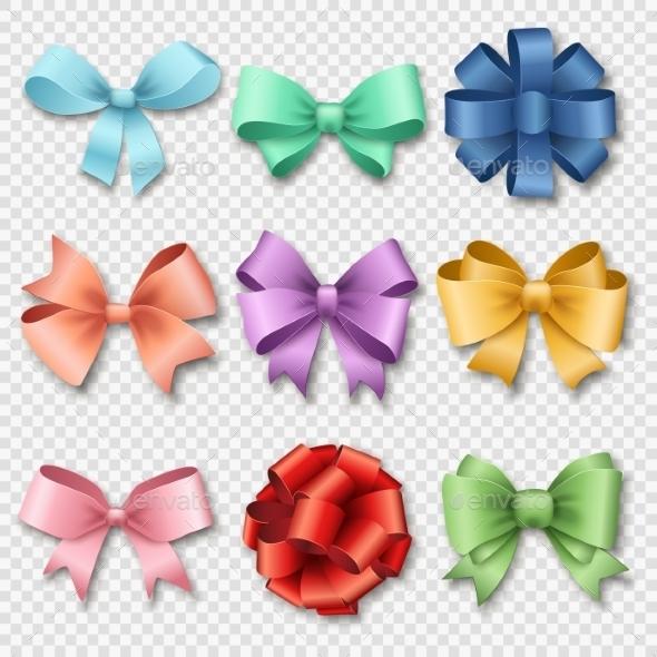Ribbons Set For Christmas Or Birthday Gifts - Christmas Seasons/Holidays