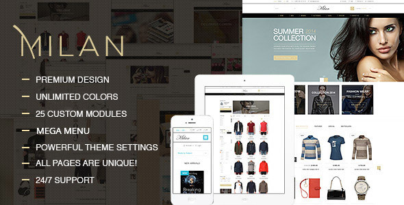 Milan – Fashion Clothes Shop Prestashop Theme