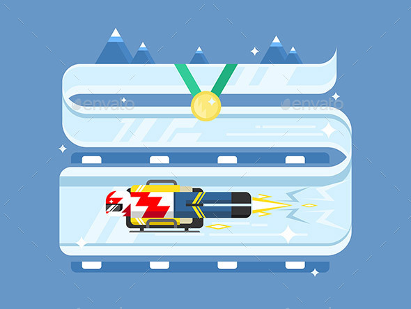 Skeleton Winter Sports - Sports/Activity Conceptual