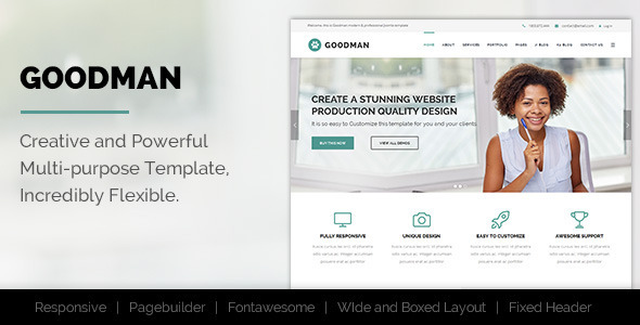 Goodman Multi-Purpose Joomla! Template - Business Corporate