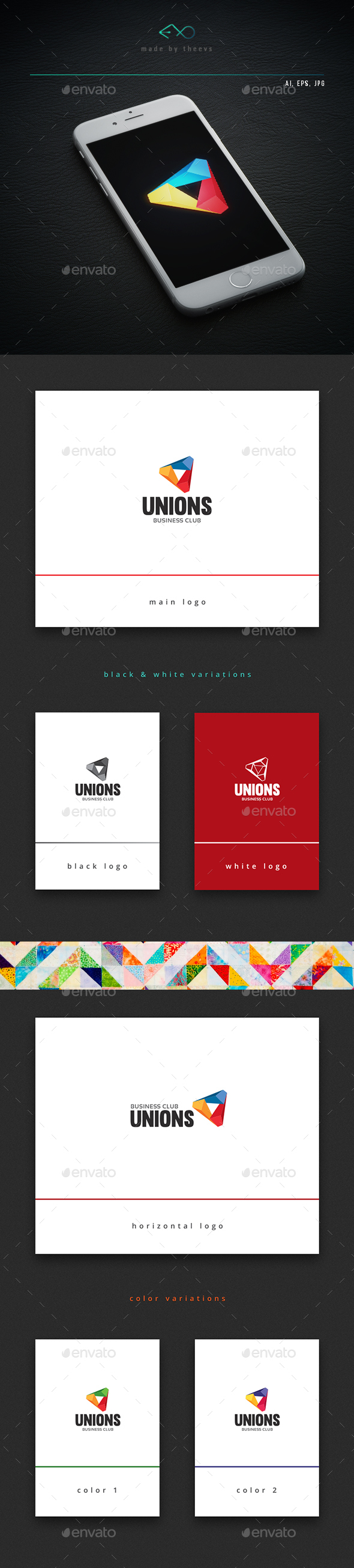 Unions - Vector Abstract