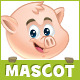 Pig Savings Mascot - GraphicRiver Item for Sale