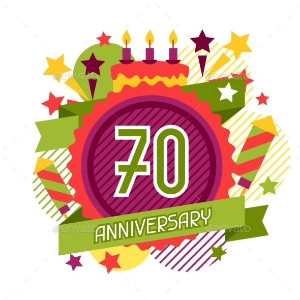 Anniversary Abstract Background With Ribbon - Birthdays Seasons/Holidays